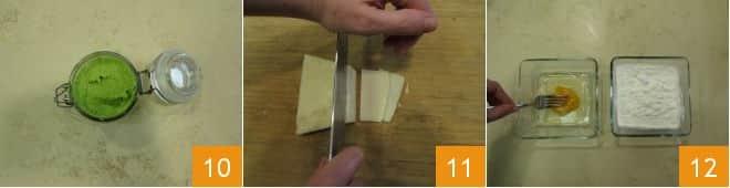 Pecorino fritto con crema di fave