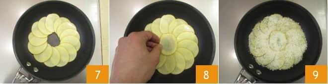 Tortino di patate in padella