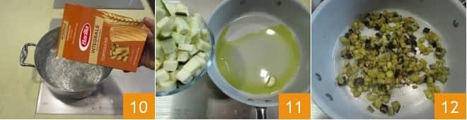 Pasta fredda melanzane e feta