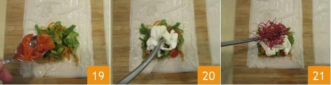 Involtini di pasta fillo vegetariani