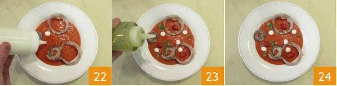 Gazpacho di frutta e verdura estiva