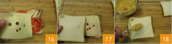 Toast vegetariano