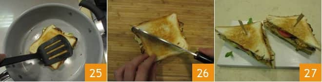 Toast vegetariano