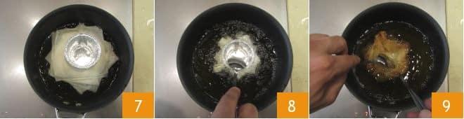 Cestini di pasta fillo con gelato