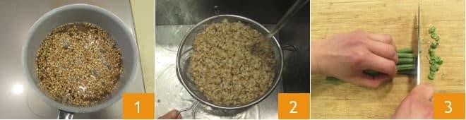 Polpette di farro ricotta e verdure