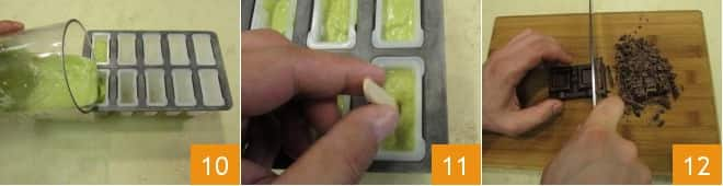 Ghiaccioli avocado e cioccolato