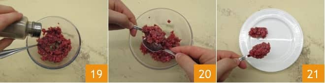 Tartare di fassona con crema inglese salata