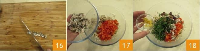 Zucchine ripiene con cereali e quinoa
