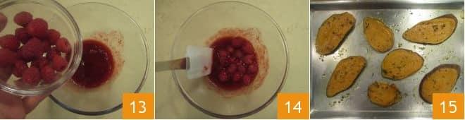 Bruschette di patate dolci