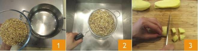 Burger di cereali e riso rosso con hummus di avocado