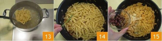 Pasta con pesto di mandorle e pomodorini confit