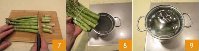 Pasta con pesto di rucola e asparagi