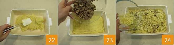 Gattò di patate con salsiccia e funghi