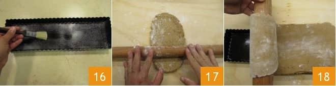 Crostata con crema al tè matcha