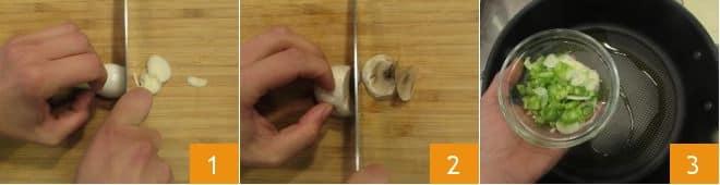 Pasta con funghi e fagioli