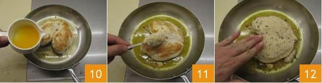 Petto di pollo al forno con scamorza