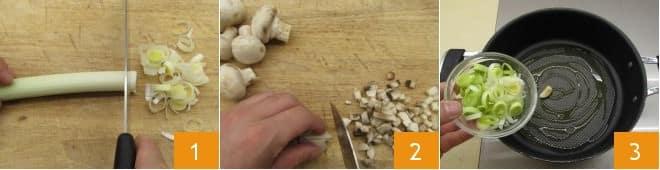 Paccheri ripieni con salsiccia e funghi