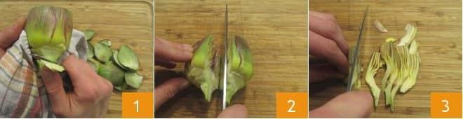 Paccheri con carciofi alla carbonara