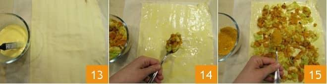 Mini angeliche salate di sfoglia