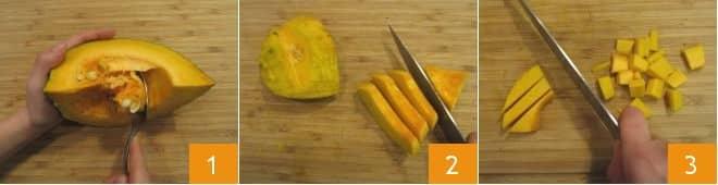 Pasta al pesto di prezzemolo e zucca