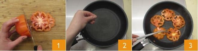 Piadina al gorgonzola con crudo e pomodori