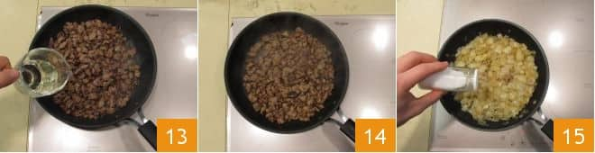 Piadina con salsiccia e cipolle stufate