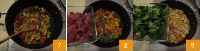 Pasta al tonno, erbette e pomodorini