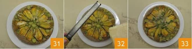 Tatin di fiori di zucca ripieni