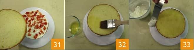 Torta mascarpone e fragole