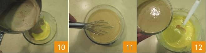 Torta al latte caldo e caffè