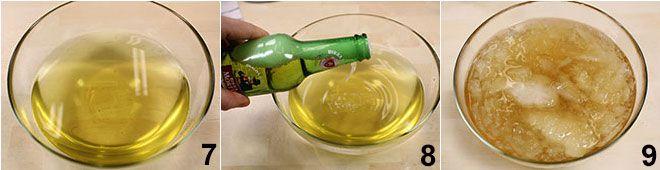 Sorbetto alla birra e menta