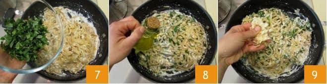 Pasta ricotta e basilico