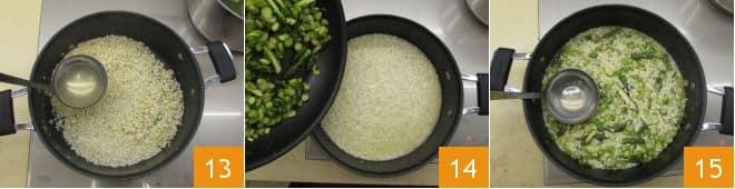 Risotto agli asparagi e raspadura