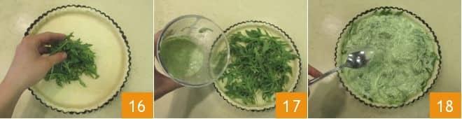 Torta salata di rucola