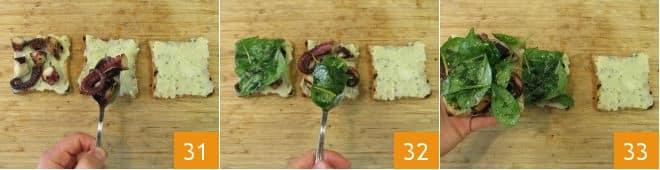 Club sandwich con polpo e patate