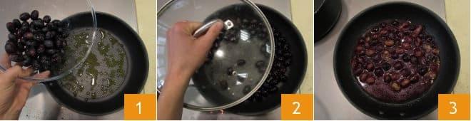 Bocconcini di pollo all'uva