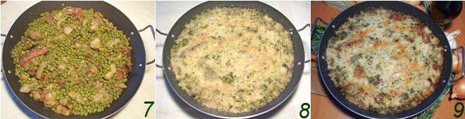 Agnello gratinato con carciofi e piselli