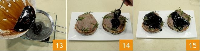 Medaglioni di filetto all'aceto balsamico
