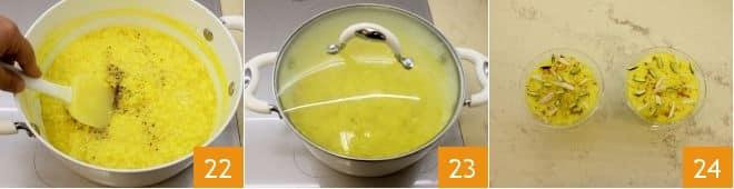 Budino di riso allo zafferano