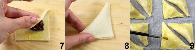 Triangolini di ricotta con confettura di ciliegia