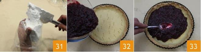 Torta alle ciliegie meringata