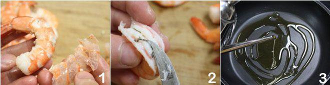 Gamberi aglio e peperoncino