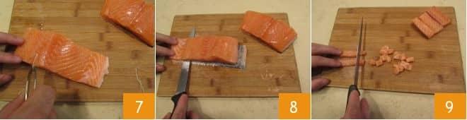 Tagliolini salmone e piselli