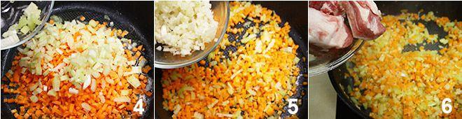 Costine con piselli e patate