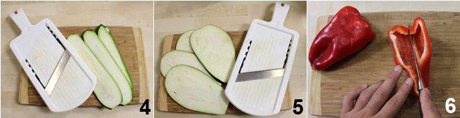 Schiacciate con torretta di verdure e fonduta