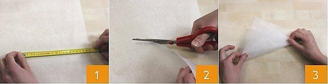 Come fare un cornetto con la carta forno
