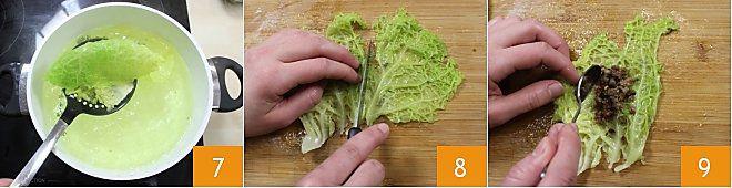 Involtini di verza su schiacciate