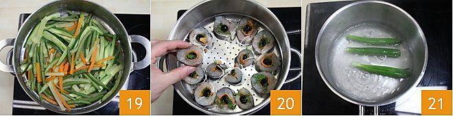 Branzino al vapore con verdure
