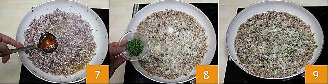 Risotto con pasta di salame e Bonarda
