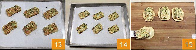 Salmone croccante su schiacciate